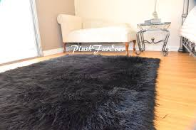 Fur Area Rug Black Rug 5x6 Faux Fur Rug Rectangle Area Rug Black Shaggy