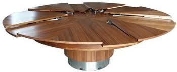 expanding circular dining table creative ideas round table that expands contemporary design