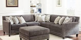 Gray Sectional Sofa Grey Sectional Sofa With Nailhead Trim Okaycreations Net