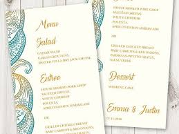 indian menu template 25 ideias exclusivas de menu template word no