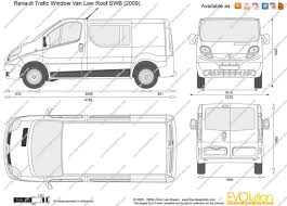 renault trafic 2010 the blueprints com vector drawing renault trafic window van