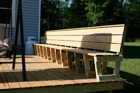 Wooden Bench Plan Build A Deck Bench Plans Wood Furniture