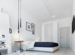 sophisticated bedroom designs which applying with a brick and wooden
