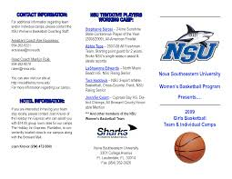 basketball camp brochure template best and professional templates