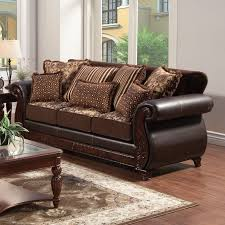 Mixing Leather And Fabric Sofas by Simmons Upholstery Lattimer Cocoa Sofa Hayneedle