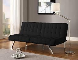 dhp emily splitback futon faux black leather