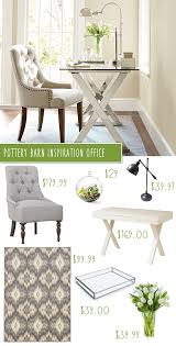 pottery barn ava desk u0026 tufted chair office makeover on a budget