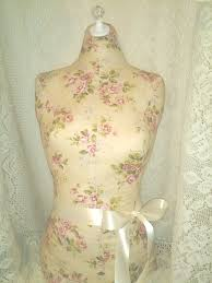 Cottage Rose Dress Form Jewelry Display Stand Decorative