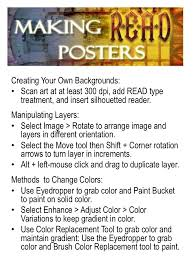read posters made easy getting creative