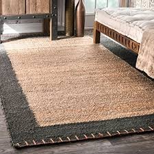 7 jute rug nuloom natura collection cameron jute solid and