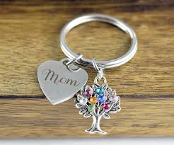 personalized birthstone keychains personalized gifts gifts for mothers day gift