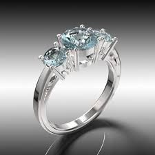 promise ring engagement ring and wedding ring set gemstone aquamarine wedding ring set with 3 promise rings in