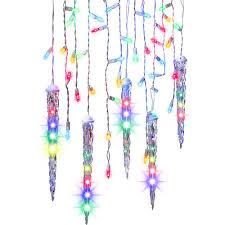 ge led icicle christmas lights good ge energy smart count