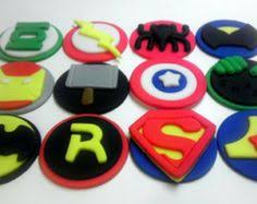 super hero avengers fondant cupcake and cookie toppers 1