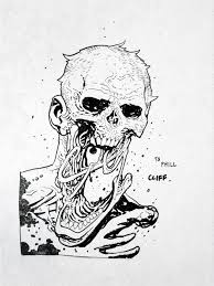 cliff rathburn zombie sketch the walking dead in phillip r u0027s