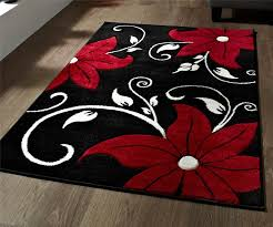 Round Red Rugs Rugs Red Black And White Rug Survivorspeak Rugs Ideas