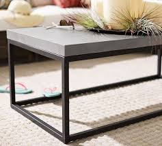 pottery barn concrete table incredible abbott concrete square coffee table pottery barn