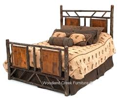 barnwood log bed hickory bed reclaimed wood cabin lodge