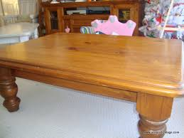 weathered pine coffee table restyled vintage tutorial how to turn your honeyed pine furniture