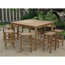 High Patio Table And Chairs Patio High Top Patio Table Set Outdoor Bar Set Outdoor Patio Bar