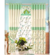 vintage floral curtains blue pink yellow black green red
