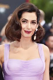 is amal clooney hair one length george clooney and amal clooney bring their simple polished glam