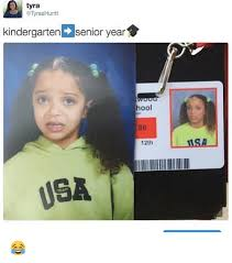 Senior Year Meme - tyra tyraahuntt kindergarten e senior year hool 86 12th 1sa