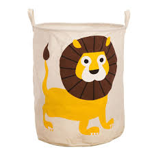 Laundry Hamper Kids by Prettymeet Lion Animal Fabric Round Foldable Dirty Clothes Laundry