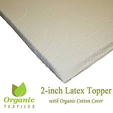 amazon com all natural latex non blended firm mattress topper 2