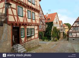 timber frame houses in the medieval town of bad wimpfen in baden