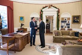 Oval Office Over The Years by Mitt Romney Has Lunch With President Obama At The White House