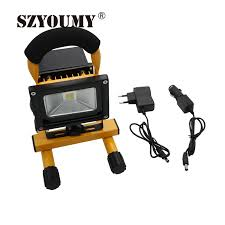 10w rechargeable flood light szyoumy portable rechargeable led flood light 10w waterproof ip65
