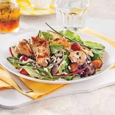 cuisine sauvage recettes salade de poulet riz sauvage et raisins soupers de semaine