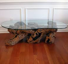 Glass And Wood Coffee Table by 29 Incredible Driftwood Coffee Tables