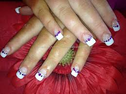 acrylic nails with designs on tips image collections nail art