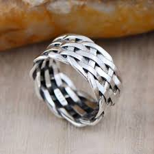 braided band men s sterling silver braided band ring jewelry1000