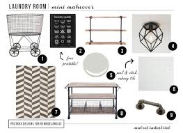 Premade Laundry Room Cabinets by Remodelaholic Industrial Laundry Room Mini Makeover