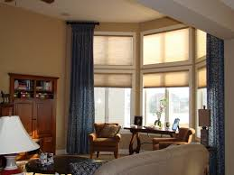 dining room fresh curtains for bay windows in dining room design