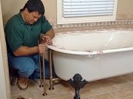 Removing A Bathtub Faucet How To Install Plumbing For A Claw Foot Tub How Tos Diy