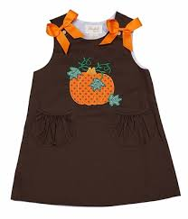 toddler girls brown orange dot pumpkin a line jumper dress