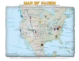 Seattle Districts Map by Hunger Games Lessons My Updated Map Of Panem The Hunger Games