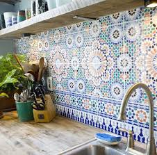Moroccan Tile Kitchen Backsplash 11 Ways To Turn Your Home Into A Moroccan Oasis Solid Surface