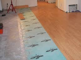 laying laminate flooring over concrete