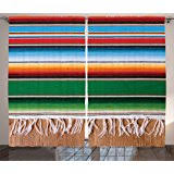 Mexican Kitchen Curtains by Amazon Com Cafepress Serape Stripes Curtains 60
