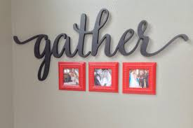 gather script word sign wall decor home decor gallery zoom