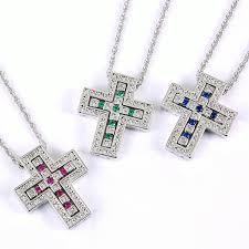 color stone necklace images Crown a rakuten global market k18 gold gp bell epoch color jpg