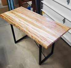30 x 60 table top wormy maple live edge table solid hardwood furniture locally