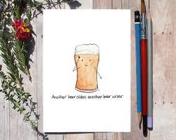 beer birthday card etsy