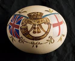 painted ostrich egg a painted ostrich egg dating from the boer war picture of