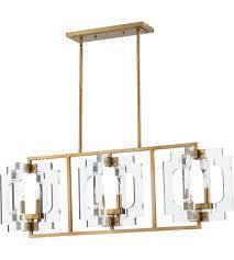 Brass Island Light Quorum 655 6 80 Broadway 6 Light 46 Inch Aged Brass Island Light